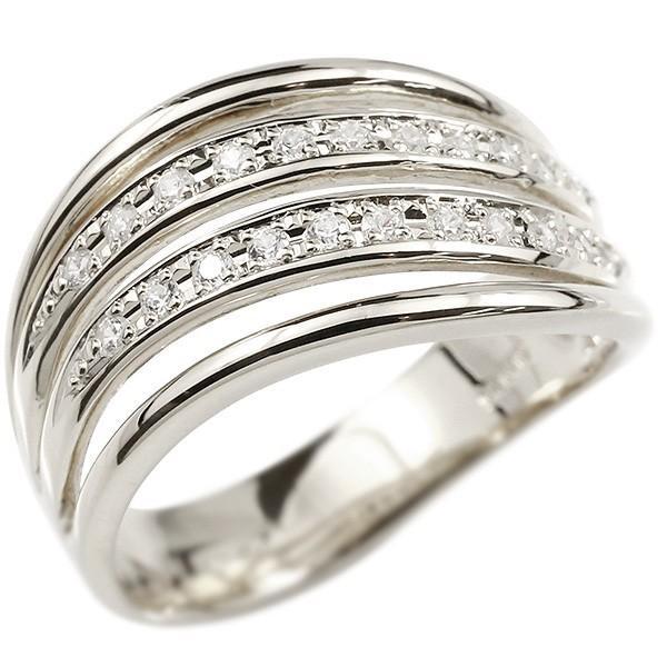 リング ゴールド 婚約指輪 ホワイトゴールドk10 キュービックジルコニア エンゲージリング 指輪 幅広 ピンキーリング 10金 レディース 送料無料