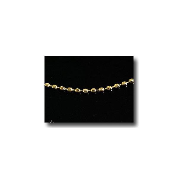 18金 ネックレス ロングネックレス イエローゴールドk18 ボールチェーン レディース 90cm 地金 クリスマス 女性