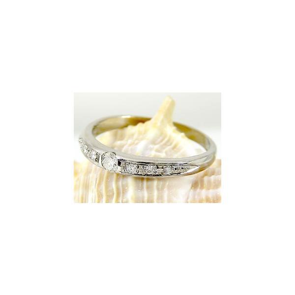 ピンキーリング ダイヤモンド リング ホワイトゴールドk18 一粒 18金 ダイヤモンドリング ダイヤ ストレート クリスマス 女性