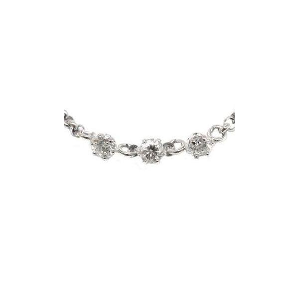 プラチナ アンクレット ダイヤモンド トリロジー チェーン レディース pt850 ダイヤ スリーストーン 宝石 おしゃれ 女性 送料無料