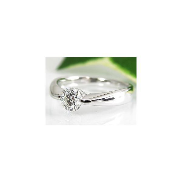 鑑定書付き 婚約指輪  エンゲージリング ダイヤモンド リング 一粒 ダイヤ 大粒 指輪 ホワイトゴールドk18 18金 ダイヤ ストレート  女性 ペア