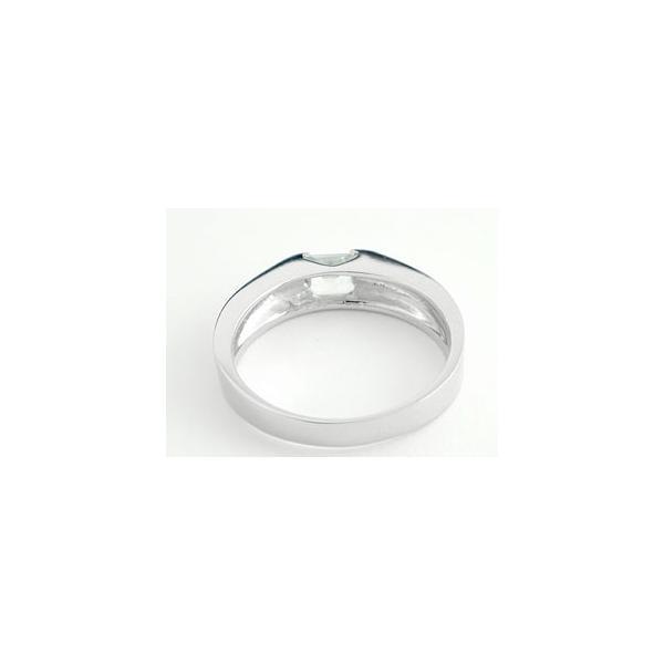 ピンキーリング アクアマリンリングホワイトゴールドk18指輪 3月誕生石 18金 ストレート 宝石 クリスマス 女性