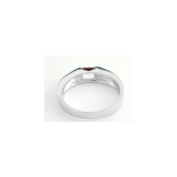 ガーネット リング 指輪 ピンキーリング シルバー 1月誕生石 ストレート スクエア sv925 クリスマス 女性