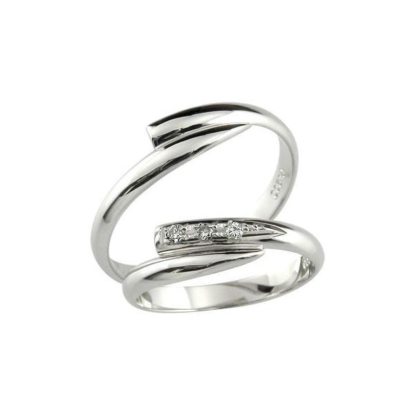 ストレート マリッジリング 甲丸 結婚指輪 ペアリング プラチナ ダイヤ ダイヤモンド リング 2本セット 結婚式 2.3 メンズ レディース 宝石 クリスマス 女性