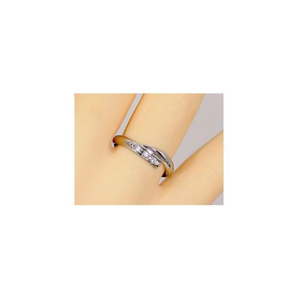 甲丸 ペアリング 結婚指輪 マリッジリング ダイヤモンド ホワイトゴールドk10 10金 ダイヤ ストレート カップル 2.3 宝石 クリスマス 女性