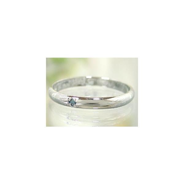 ストレート マリッジリング 甲丸 結婚指輪 ペアリング 一粒ダイヤモンド ホワイトゴールドk18 ピンクゴールドk18 18金 ダイヤ 2.3 クリスマス 女性