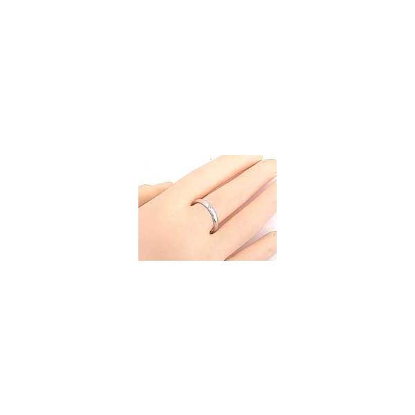 ペアリング キュービックジルコニアシルバー925指輪 ストレート カップル 2.3 クリスマス 女性