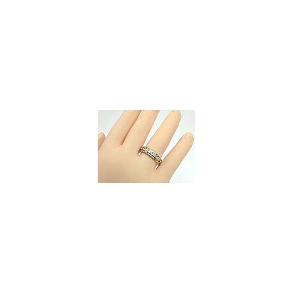 鑑定書付 ペアリング 人気 結婚指輪 ダイヤモンド プラチナ マリッジリング SI 結婚式 ピンクゴールドk18 ダイヤ 18金 ストレート カップル クリスマス 女性