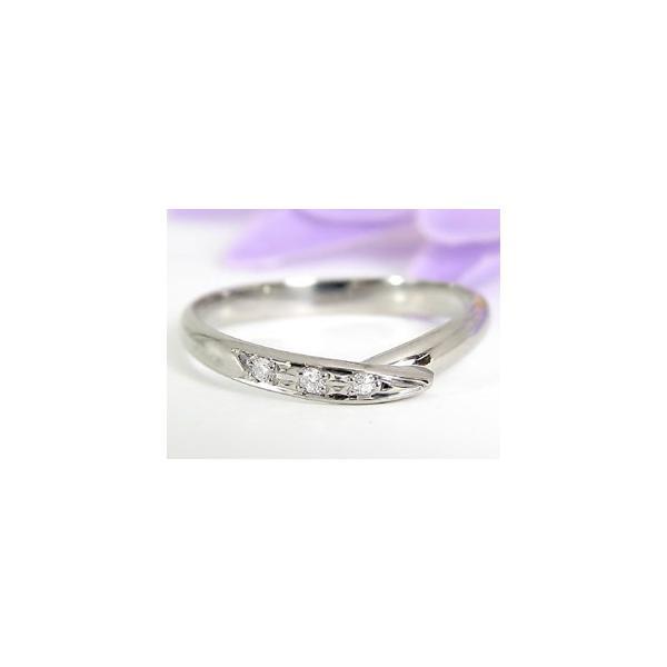 ストレート マリッジリング 甲丸 結婚指輪 ペアリング プラチナ ダイヤ ダイヤモンドS字 指輪 リング 2本セット 0.03ct ウェーブリング 2.3 クリスマス 女性