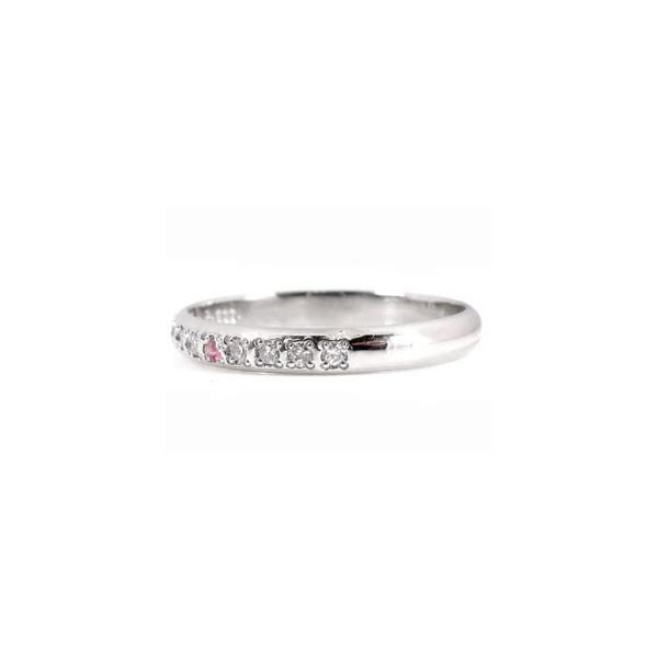 ストレート マリッジリング 甲丸 結婚指輪 ペアリング プラチナ ダイヤ ダイヤモンド ピンクサファイア 結婚式 カップル 2.3 メンズ レディース 宝石