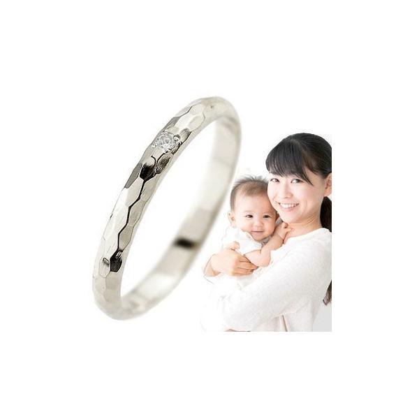 ピンキーリング ブルームーンストーン シンプル 普段使い 人気 指輪 刻印 プラチナ 6月誕生石 出産祝い 育児 ママデビュー ストレート 2.3 送料無料