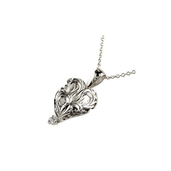 ハワイアンネックレス ジュエリー ダイヤモンド ペンダントプラチナネックレス ダイヤ レディース 宝石 クリスマス 女性