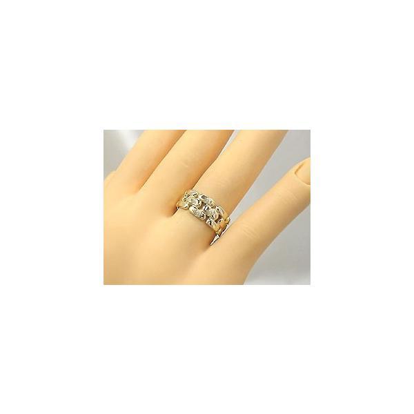 ピンキーリング 指輪 ダイヤモンド リング k18 イエローゴールド 18金 ダイヤモンドリング ダイヤ ストレート