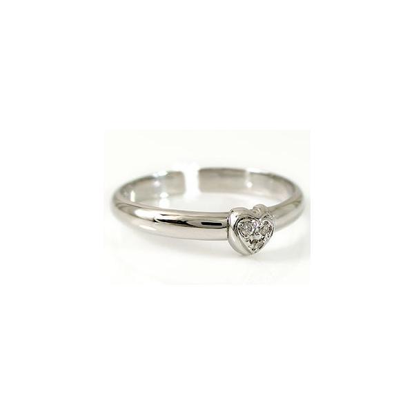 トゥリング 足の指輪 プラチナリング ダイヤモンド ハートダイヤモンド レディース ダイヤ シンプル 人気 クリスマス 女性