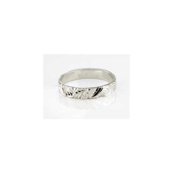 マリッジリング 結婚指輪 ペアリング ハワイアン ゴールドK18 結婚式 18金 ストレート カップル メンズ レディース 宝石