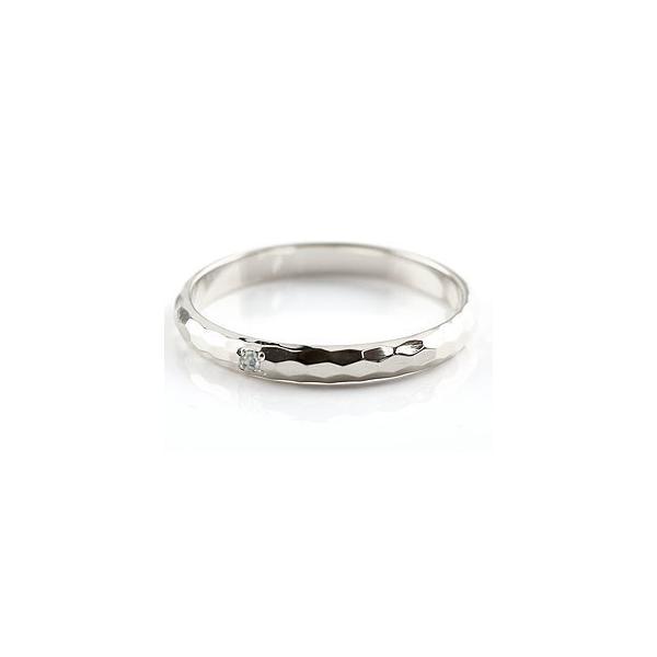ストレート マリッジリング 甲丸 結婚指輪 ペアリングアクアマリン ホワイトゴールドk18 人気 18金 結婚式 シンプル メンズ レディース 宝石 クリスマス 女性