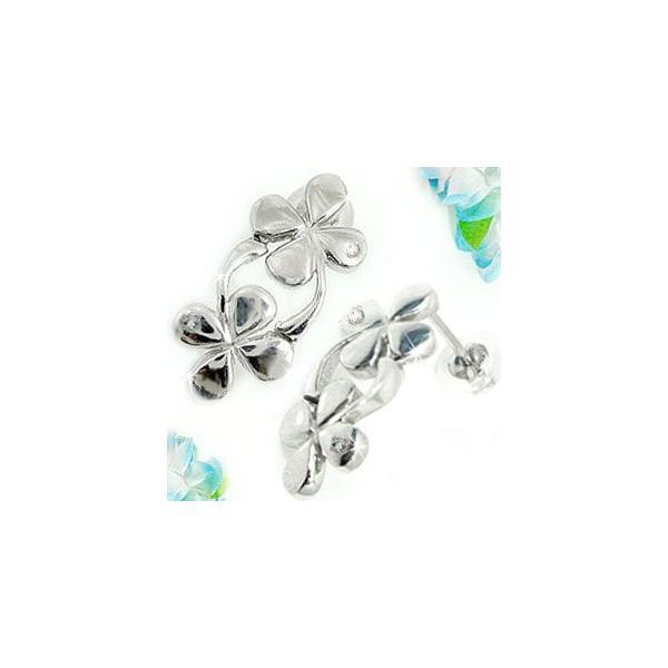 ダイヤモンド アクアマリンピアス プラチナ クローバー四つ葉 スタッドピアス 3月誕生石 天然石 ダイヤ レディース 宝石 クリスマス 女性