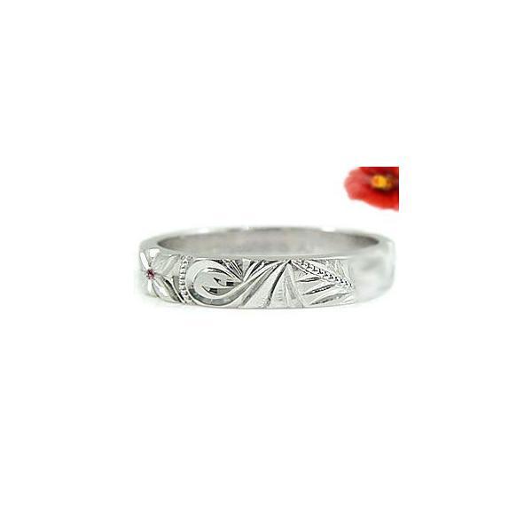 ペアリング プラチナ 2本セット PT900 結婚指輪 ハワイアンジュエリー マリッジリング ピンクサファイア ブルーダイヤモンド ダイヤ ストレート  シンプル 人気