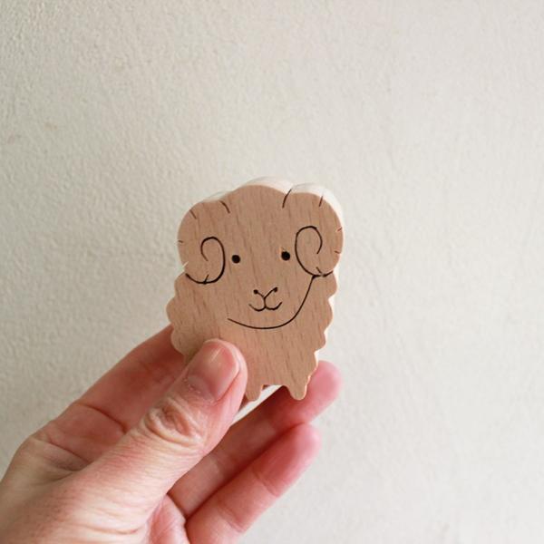 知育玩具 木のおもちゃ「干支おぼえ隊」誕生日ギフト 幼児 木製インテリア プレゼント 日本製 普通郵便OK|atsumeru|06