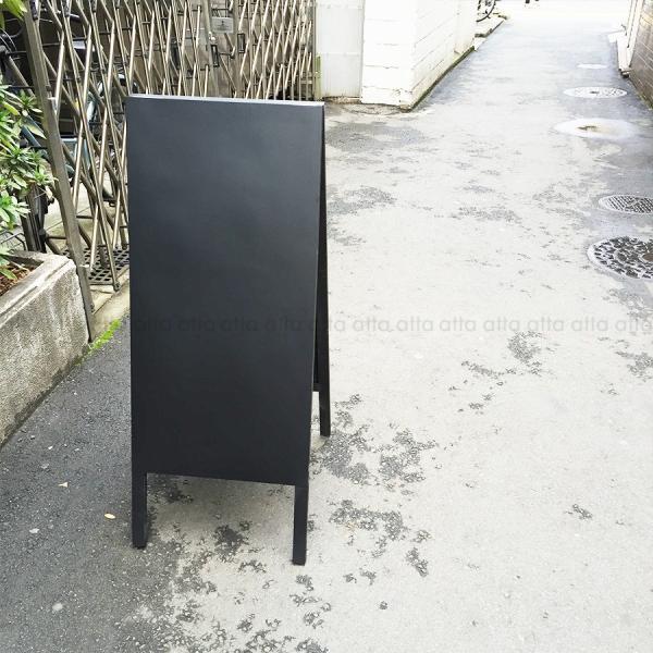A型看板 (中) 木製 カラー黒板 ブラック (両面 チョーク用) 立て看板 置き看板 店舗用 WA450K|atta-v|06