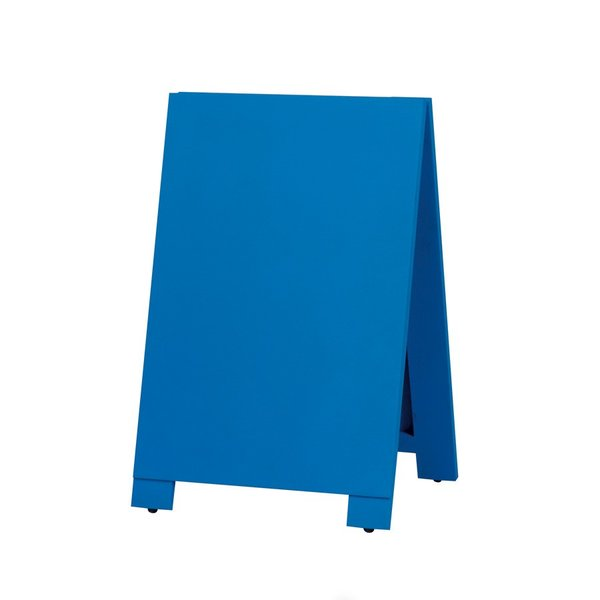 A型看板 (小) 木製 カラー黒板 ブルー (両面 チョーク用) 立て看板 置き看板 店舗用 WA60BS|atta-v|03