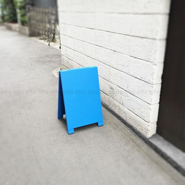 A型看板 (小) 木製 カラー黒板 ブルー (両面 チョーク用) 立て看板 置き看板 店舗用 WA60BS|atta-v|04
