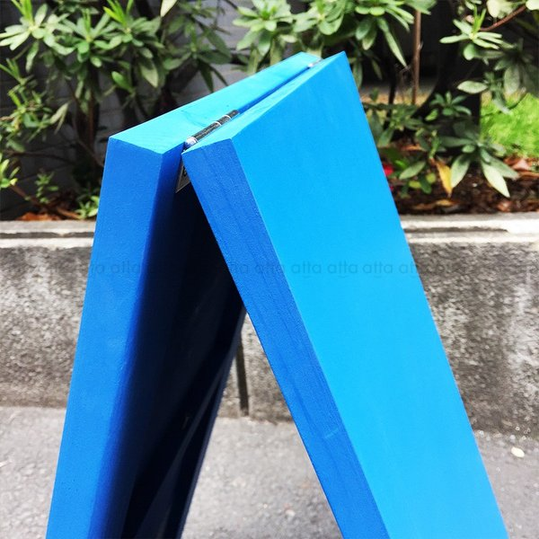 A型看板 (小) 木製 カラー黒板 ブルー (両面 チョーク用) 立て看板 置き看板 店舗用 WA60BS|atta-v|05