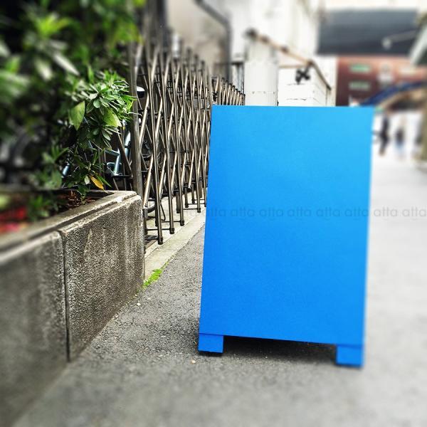 A型看板 (小) 木製 カラー黒板 ブルー (両面 チョーク用) 立て看板 置き看板 店舗用 WA60BS|atta-v|06