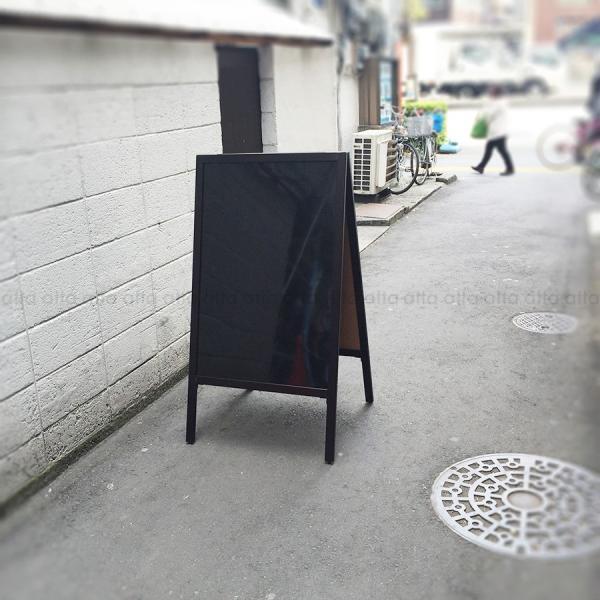 A型看板 (特大) ブラックボード 木製 両面 マーカー用 ABS-101B 立て看板 置き看板 店舗用|atta-v|02