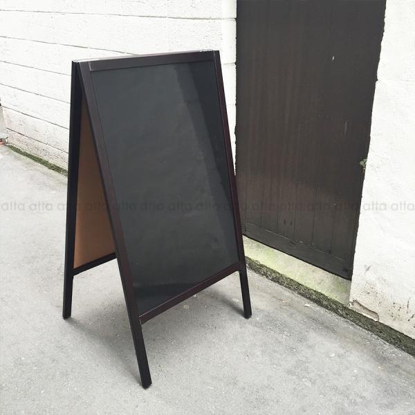A型看板 (特大) ブラックボード 木製 両面 マーカー用 ABS-101B 立て看板 置き看板 店舗用|atta-v|04