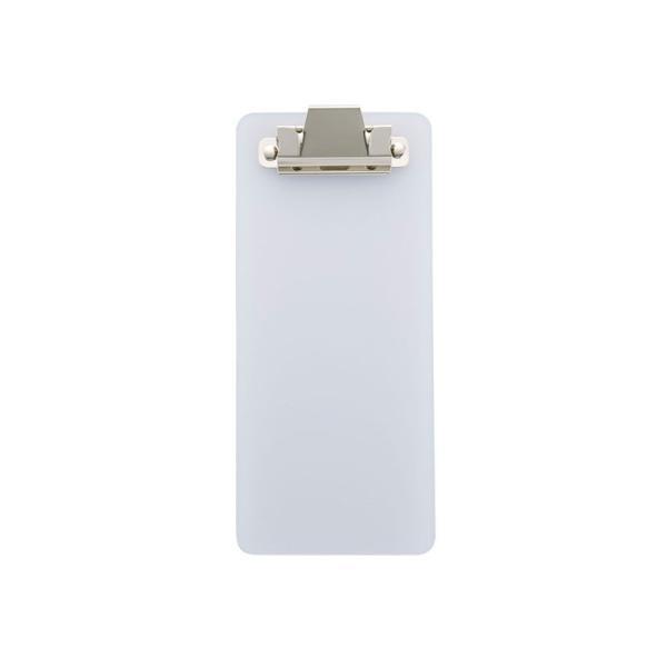 伝票ホルダー W85xH195mm 金具クリップ付 ポリ塩化ビニル BH-9 えいむ(Aim) すりガラス色