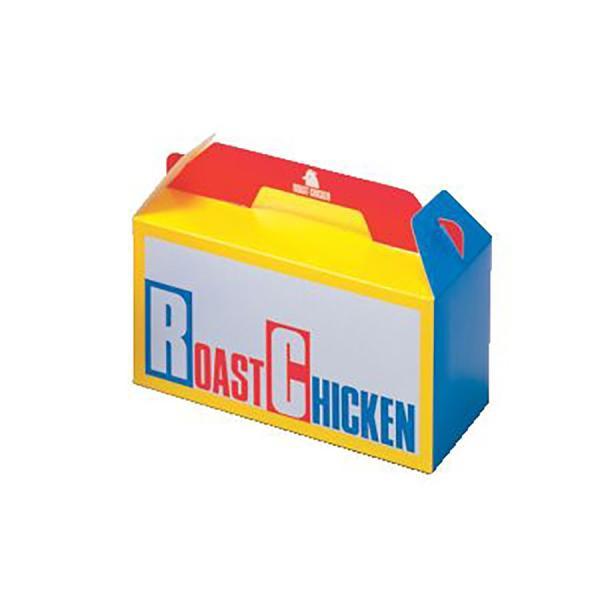 ローストチキンボックス 120×240×125mm 200枚入り 持ち帰り箱 ローストチキン H.B テイクアウト 業務用 祭り 使い捨て食品容器