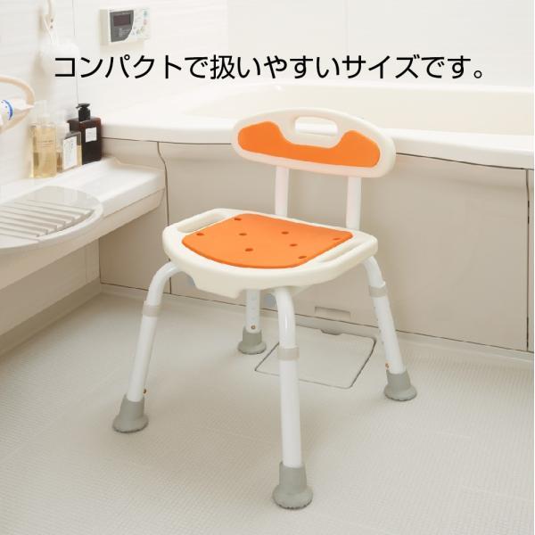 選べる4色 福浴コンパクトシャワーチェア オレンジ/グリーン/ブルー/ボルドー attakarental 03