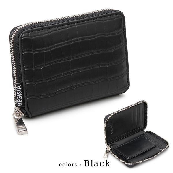 二つ折り 財布 フェイク クロコ 合皮 ラウンドファスナー メンズ レディース ブランド 誕生日 プレゼント ギフト|attention-store|02
