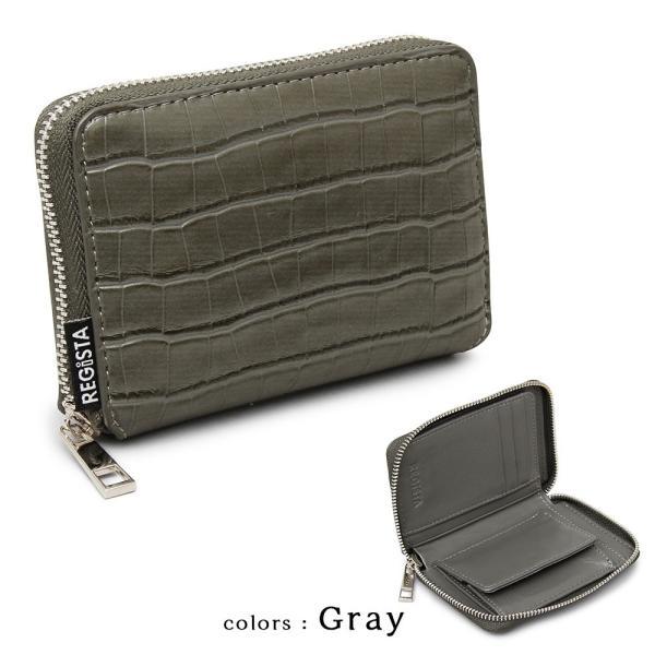 二つ折り 財布 フェイク クロコ 合皮 ラウンドファスナー メンズ レディース ブランド 誕生日 プレゼント ギフト|attention-store|05