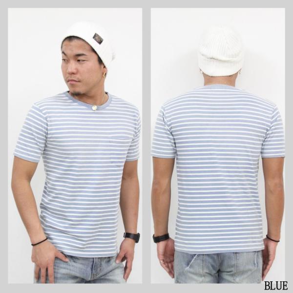 ボーダー Tシャツ メンズ 胸ポケット カットソー TEE 半袖 アメカジ ストリート系 ファッション かっこいい|attention-store|04