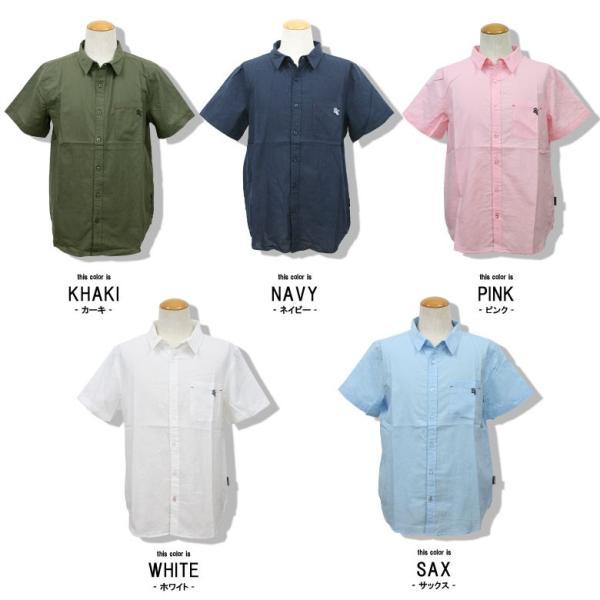 シャツ メンズ 綿麻 半袖 無地 リネンシャツ リアルコンテンツ REALCONTENTS 白 ホワイト 紺 ネイビー M L XL XXL ストリート系 ファッション|attention-store|02