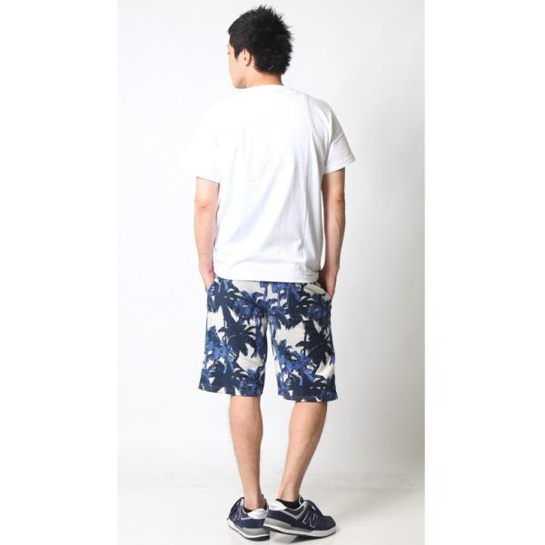 ショートパンツ メンズ ハーフパンツ ショーツ 短パン 半ズボン イージーパンツ ボーダー 総柄 星条旗 黒 ネイビー M L XL 2L LL 大きいサイズ|attention-store|12