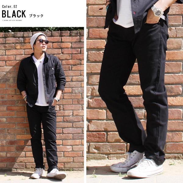 チノパン メンズ カラーパンツ ボトムス ストレッチ コットンパンツ リアルコンテンツ 白 ホワイト 黒 ブラック ベージュ かっこいい アメカジ ファッション|attention-store|06