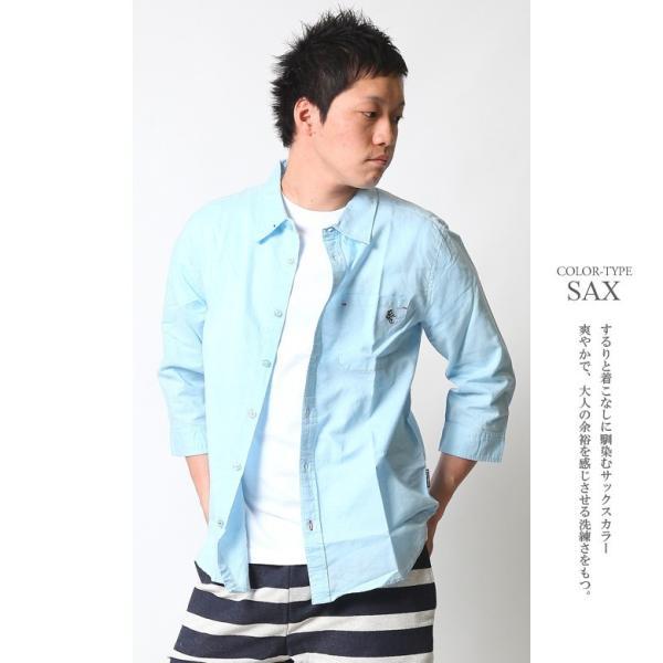 シャツ メンズ 綿麻 7分袖 カジュアルシャツ リネンシャツ リアルコンテンツ 白 ホワイト 紺 ネイビー M L XL XXL ストリート系 ファッション|attention-store|11