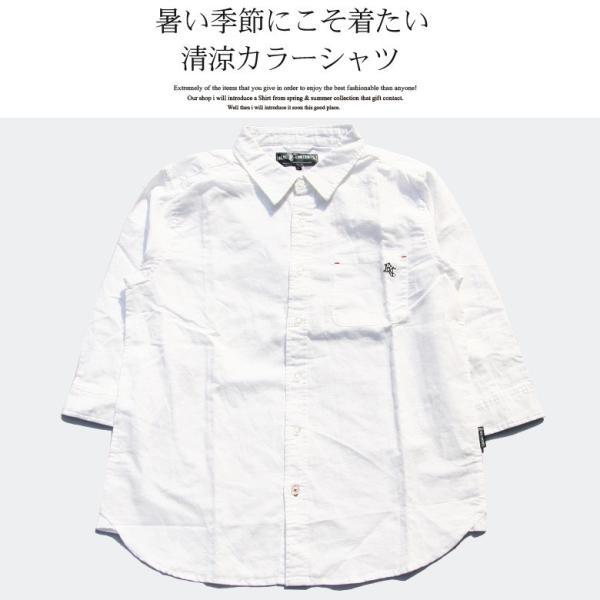 シャツ メンズ 綿麻 7分袖 カジュアルシャツ リネンシャツ リアルコンテンツ 白 ホワイト 紺 ネイビー M L XL XXL ストリート系 ファッション|attention-store|03