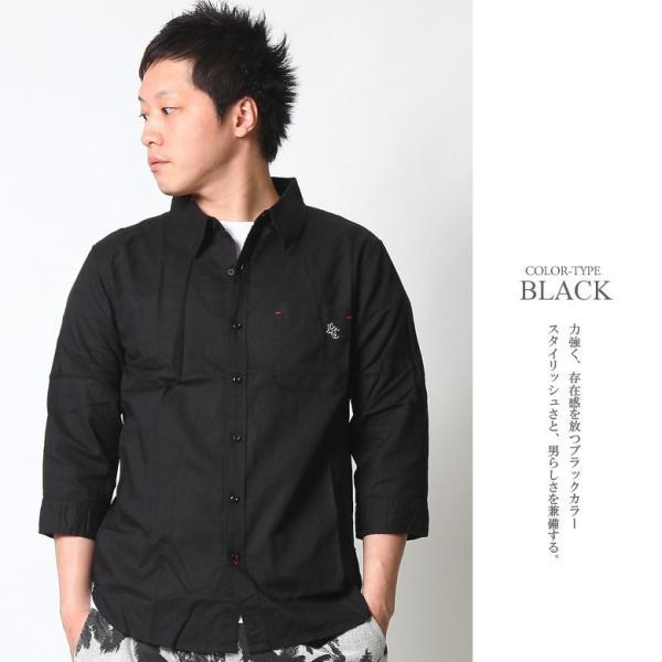 シャツ メンズ 綿麻 7分袖 カジュアルシャツ リネンシャツ リアルコンテンツ 白 ホワイト 紺 ネイビー M L XL XXL ストリート系 ファッション|attention-store|07