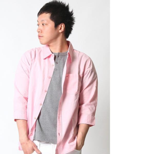 シャツ メンズ 綿麻 7分袖 カジュアルシャツ リネンシャツ リアルコンテンツ 白 ホワイト 紺 ネイビー M L XL XXL ストリート系 ファッション|attention-store|10