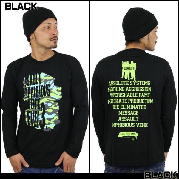 ロンT ストリート ブランド メンズ 長袖 Tシャツ プリント ASNADISPEC アスナディスペック ロゴ 大きいサイズ /3045/|attention-store|03