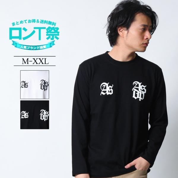 ロンT ストリート ブランド メンズ 長袖 Tシャツ プリント ASNADISPEC アスナディスペック ロゴ 大きいサイズ /3045/ attention-store
