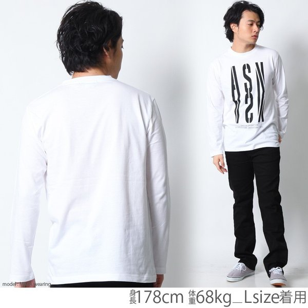 ロンT メンズ 長袖 Tシャツ ロングTシャツ ASNADISPEC/アスナディスペック M L XL XXL 2XL 3L /3045/ aslt2250 attention-store 08