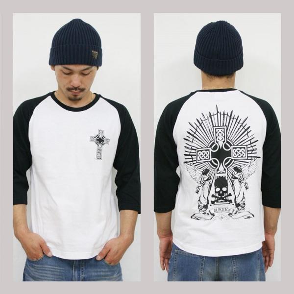 Tシャツ メンズ 7分袖 長袖 ロンT カジュアル ストリート系 ファッション BLACKTON ブラクトン /3045/ attention-store 02