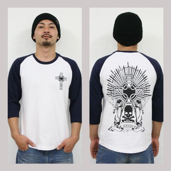 Tシャツ メンズ 7分袖 長袖 ロンT カジュアル ストリート系 ファッション BLACKTON ブラクトン /3045/ attention-store 03