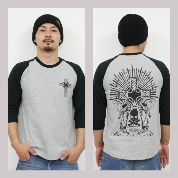 Tシャツ メンズ 7分袖 長袖 ロンT カジュアル ストリート系 ファッション BLACKTON ブラクトン /3045/ attention-store 04