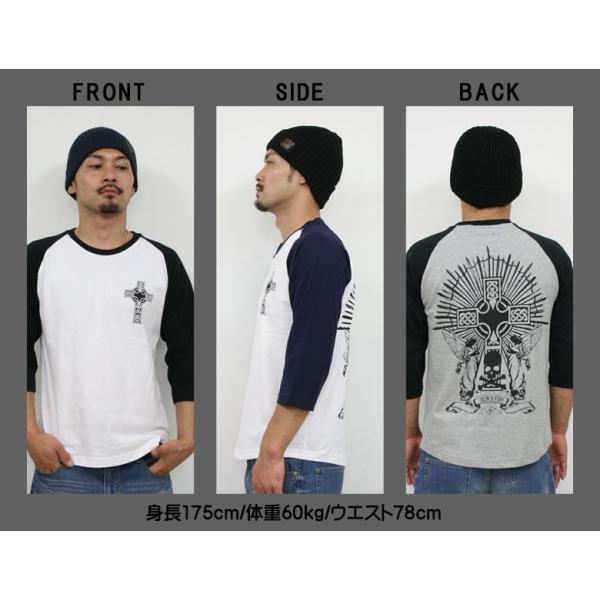 Tシャツ メンズ 7分袖 長袖 ロンT カジュアル ストリート系 ファッション BLACKTON ブラクトン /3045/ attention-store 05